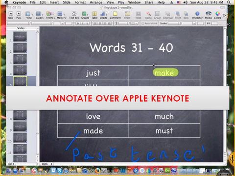 ANNOTATION OVER AN APPLE KEYNOTE SLIDE