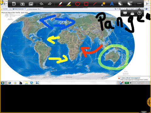 Digital whiteboard app for ipad and android tablet splashtop annotation over the globe showing pangea gumiabroncs Image collections